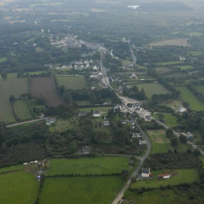 Vue aérienne du bourg prise depuis le nord