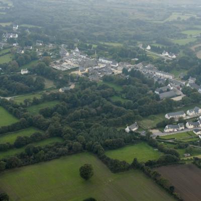 Vue aérienne de Brennilis (2009)
